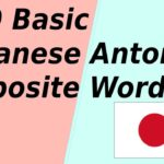 140 Basic Japanese Opposite words (Antonym)