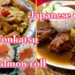 Japanese curry, Katsudon, Sushi roll at Sakura Terrace Baguio Philippines