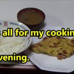 Japanese simple recipes. Ajibo's cooking  this evening is fried Vienna sausages with 2 eggs.