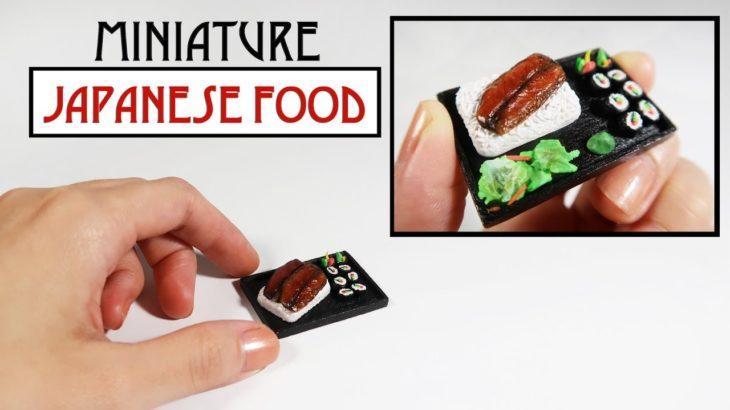 Miniature DIY – Japanese Food (Sushi, Unagi)