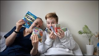 Twins try japanese candy!