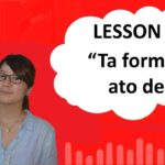 """# 38 Learn Japanese – """"Ta Form"""" + ato de (After doing…)"""
