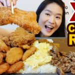 GIANT JAPANESE CURRY RICE!! Crispy Chicken Cutlet, Pork, Fish Katsu, Omelette | Eating Show Mukbang