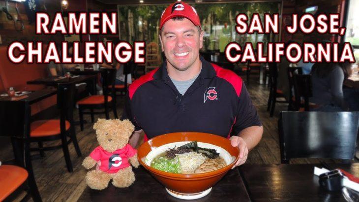 Giant JAPANESE RAMEN CHALLENGE in CALIFORNIA!!