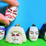 Japanese KABUKI Face Miniature Figure – Unique Capsule Toy (GASHAPON)