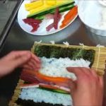 Japanese cuisine and chef's technique:sushi rolls