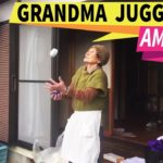 Japanese grandmother performs amazing juggling act
