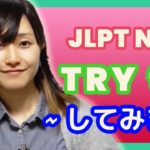 "Learn JLPT N4 Japanese – How to use ""TRY TO""  