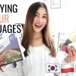 Study 4 Languages With Me!⎮Korean, Chinese, Polish & Japanese