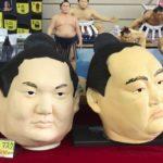 Sumo in Tokyo, Japan and sumo goods as souvenir