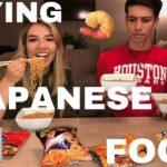TASTING JAPANESE FOOD!!