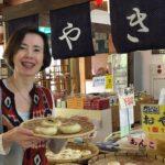 Tasting Oyaki a Japanese Dumpling and Nagano Specialty