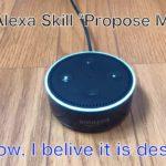 "Alexa Skill ""Propose Man"" Demo (Japanese with English subtitle)"