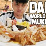 JAPANESE CHINESE AMERICAN FOOD MUKBANG | DADS WORLD BUFFET | Vlog #10