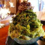 Japanese Food – FIREWORKS SHAVED ICE Matcha Red Bean Mochi Fukuoka Japan