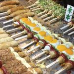 【Japanese style pancake on chopsticks】at Japanese summer festival