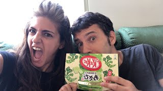 Wasabi KitKat from Japan!! * LIVE TASTE TEST * & a quick channel update | Yael & Roy's Mania