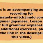 Beginner Japanese Audio Lesson 01-05