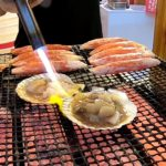 Grilled Scallop and Crab(ホタテ貝焼き&カニ焼き) –  Japanese Street Food