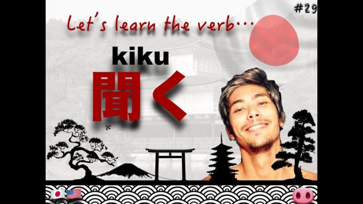JAPANESE Verb KIKU #29 – Learning with Marcello Master Piggy