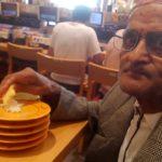 My baba visit japan eating japanese food 2018 September 2075 asoj