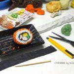 Sculpture molding clay of Japanese food is Shu shi ปั้นดินน้ำมัน ซูชิ