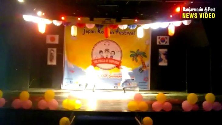 Siswa SMKN 1 Banjarmasin Tampilkan Cosplay Anime di Japan Korean Festival