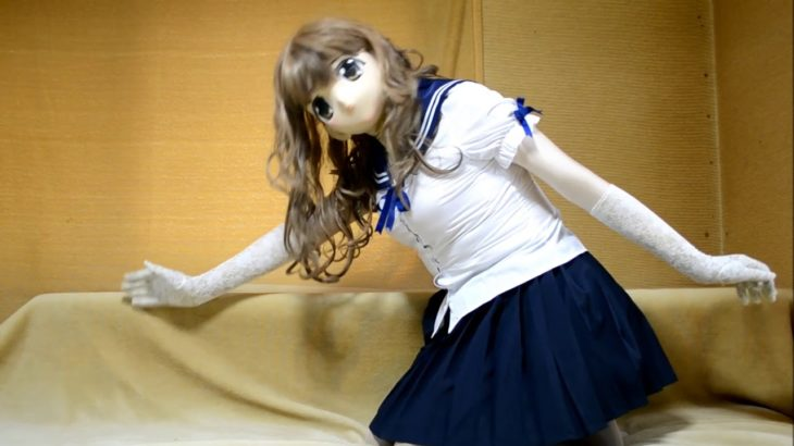 female mask kigurumi doll Japanese anime-cosplay zentai girl