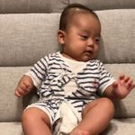 4 month Japanese Baby Boy on Sofa