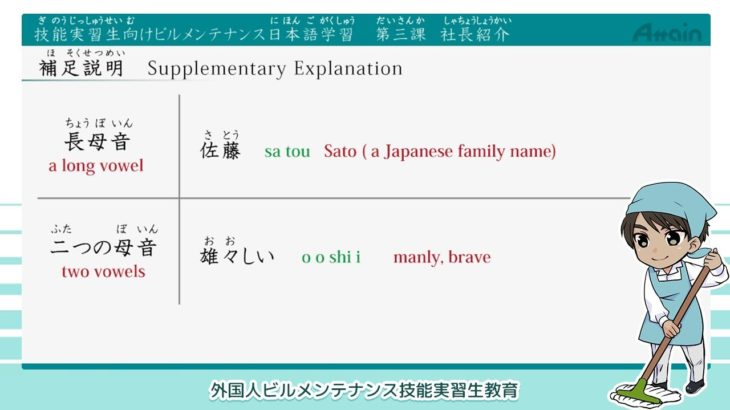 Building Maintenance Japanese Lesson 3 Listening Practice