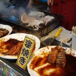 Japanese Street Food at the Hakozakigu Hojoya Festival – kayaki 筥崎宮放生会のイカ焼き