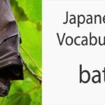 Japanese Vocabulary [Animals] Bat