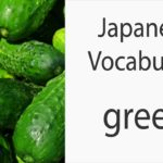 Japanese Vocabulary [Colors] Green