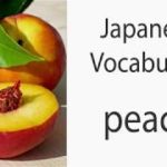 Japanese Vocabulary [Fruits] Peach