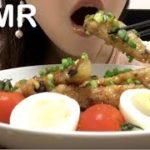 【咀嚼音/口元あり】秋ナスの豚バラ巻き🍆🐷Japanese dinner EATING SOUNDS  no talking  ASMR