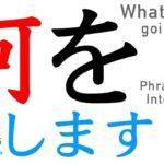 Learn Japanese Grammar | Particle |  nani o shimasuka なにをしますか 何をしますか |  #59