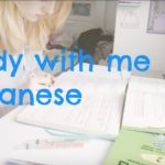 Real time study Japanese with me | strawblondiestudies