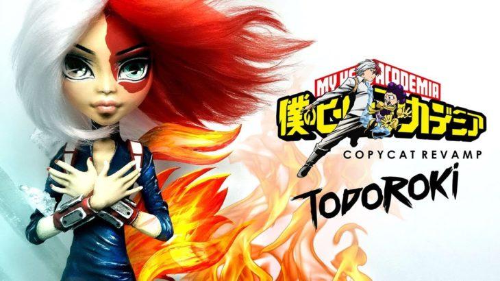 Doll Figurine TODOROKI My Hero Academia   Japanese Anime   Monster High Repaint Ooak