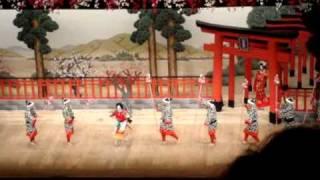 Kabuki Fight scene (Yoshitsune Senbon Zakura)