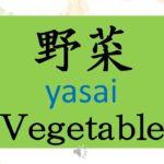 LEARN JAPANESE BASIC NIHONGO ONLINE –  YASAI यासाइ VEGETABLES name in Japanese Language