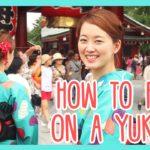 RISA TUTORIAL: Learn How To Put On A Yukata | The Japanese Traditional Summer Kimono