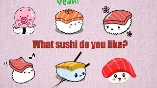 Survival Japanese Lesson 5: What sushi do you like?