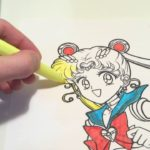 Japanese Anime Princess Coloring Page for Toddlers