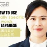 Learn Three Japanese Words with no English Translation | Learn Natural Japanese with Wasabi