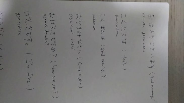 Lesson 2: Japanese Greetings part 1