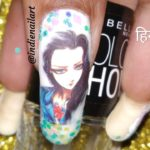 How to apply water decals, nail art (हिंदी में) | Japanese anime water decals nail art.