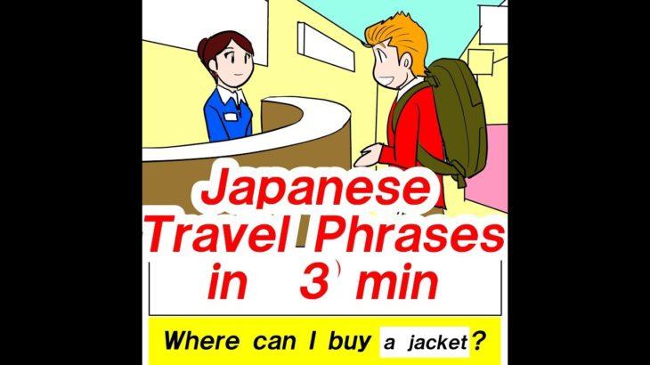 Japanese travel phrases in 3 min   #11