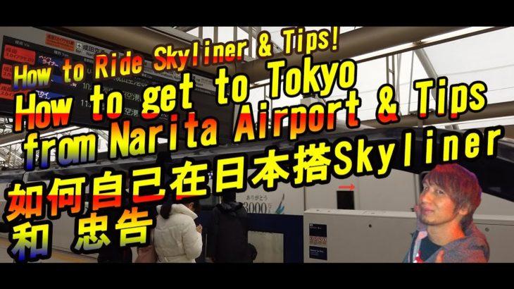 【日本旅遊】 如何自己在日本搭SKYLINER 從成田機場到東京 /  How to ride skyline & Tips from Narita Airport to Tokyo