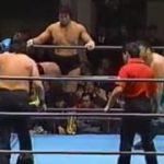 AJPW – Jumbo Tsuruta, Tiger Mask II & Kabuki vs Genichiro Tenryu, Toshiaki Kawada & Fuyuki