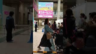 東京ビッグサイト Anime japan 2019 終わった 東ホールの様子 3  プリキュア鞄発見。